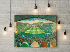 easter road on matchday  canvas a3 size